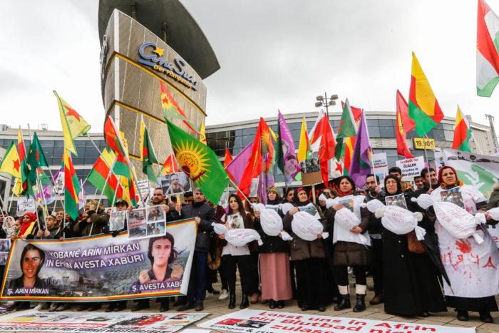 Kurden Demo Fotojournalist Oliver Schaper